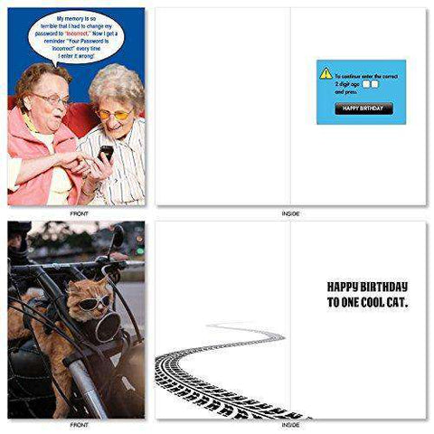 Assorted Box Of 20 Hysterical Birthday Cards Featuring The Absolute Best Humor