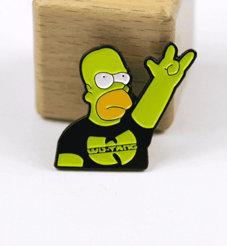 Free Homer Simpson Wu-Tang Clan The Simpsons Enamel Pin Just Pay Shipping