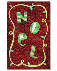 American Greetings Noel Christmas Card with Glitter - Funny Christmas Cards - Free Shipping