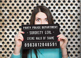 Outrageously Hilarious Mugshot Signs - Set Of 20 Photo Booth Props and Accessories, Bachelorette Party Supplies and Decor Girls Night Out - FREE US SHIPPING