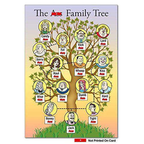 As Family Tree Unique Funny Birthday Card With Envelope