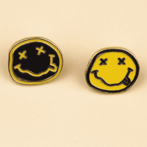 Free Nirvana Smiley Face Rock Band Music Enamel Pin Just Pay Shipping