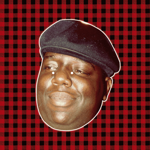 Happy Notorious BIG Mask - Perfect for Halloween, Costume Party Mask, Masquerades, Parties, Festivals, Concerts - Jumbo Size Waterproof Laminated Mask