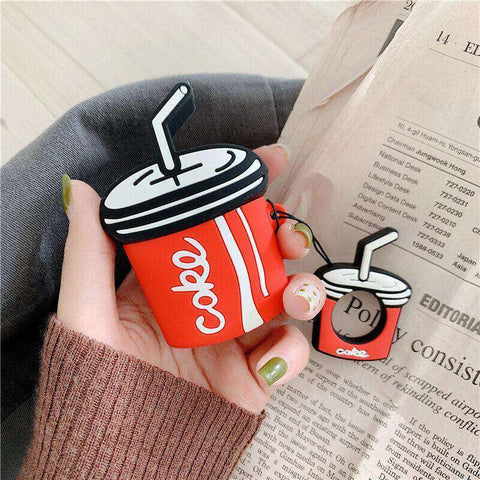 Coke Soda Cup Straw Coca Cola Apple Airpods Case FREE SHIPPING