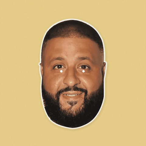 Happy DJ Khaled Mask - Perfect for Halloween, Costume Party Mask, Masquerades, Parties, Festivals, Concerts - Jumbo Size Waterproof Laminated Mask