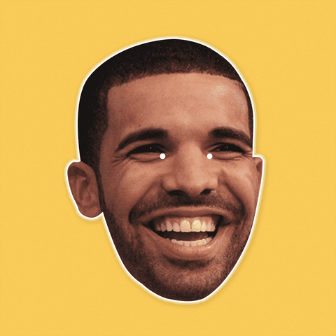 Happy Drake Mask by RapMasks