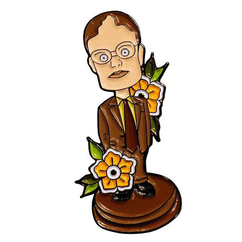 Free Dwight Schrute Bobblehead The Office Enamel Pin Just Pay Shipping