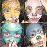 Fierce Animal Beauty Face Masks for Refreshed & Moisturized Skin- Tiger, Panda, Dog, Sheep