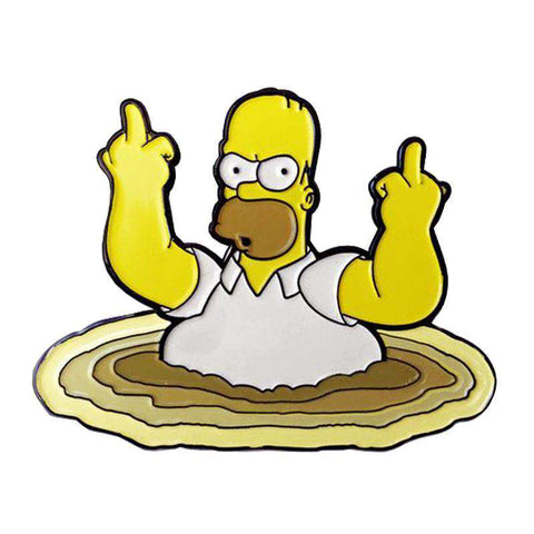 Free Homer Simpson Middle Fingers The Simpsons Enamel Pin Just Pay Shipping