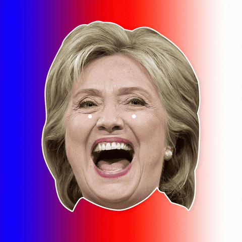 Hillary Clinton Mask - Perfect for Halloween, Costume Party Mask, Masquerades, Parties, Festivals, Concerts - Jumbo Size Waterproof Laminated Mask