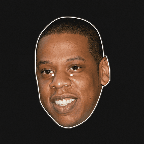 Happy Jay-Z Mask - Perfect for Halloween, Costume Party Mask, Masquerades, Parties, Festivals, Concerts - Jumbo Size Waterproof Laminated Mask