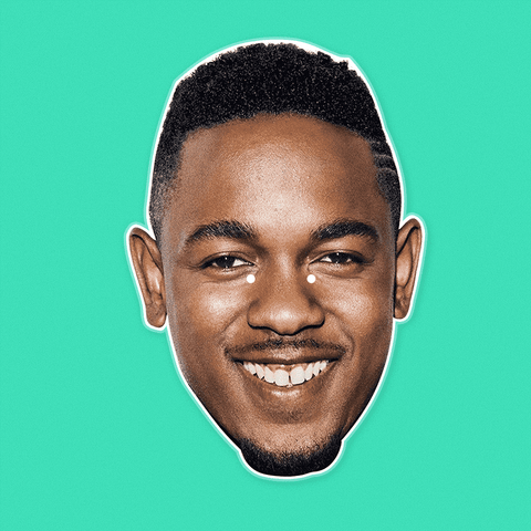 Happy Kendrick Lamar Mask - Perfect for Halloween, Costume Party Mask, Masquerades, Parties, Festivals, Concerts - Jumbo Size Waterproof Laminated Mask