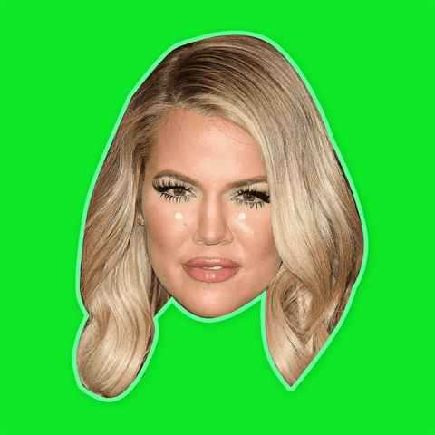 Khloe Kardashian Mask - Perfect for Halloween, Costume Party Mask, Masquerades, Parties, Festivals, Concerts - Jumbo Size Waterproof Laminated Mask