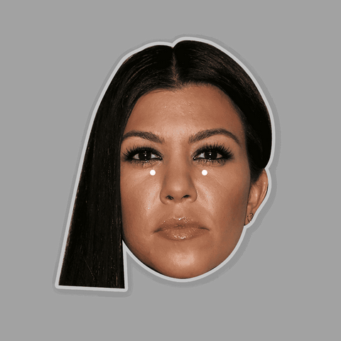 Kourtney Kardashian Mask - Perfect for Halloween, Costume Party Mask, Masquerades, Parties, Festivals, Concerts - Jumbo Size Waterproof Laminated Mask