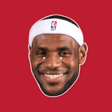 Happy Lebron James Mask - Perfect for Halloween, Costume Party Mask, Masquerades, Parties, Festivals, Concerts - Jumbo Size Waterproof Laminated Mask