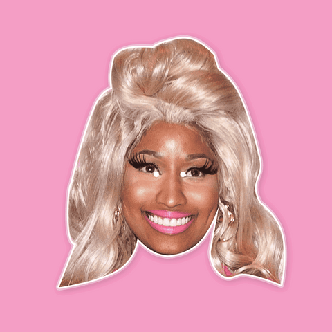 Happy Nicki Minaj Mask - Perfect for Halloween, Costume Party Mask, Masquerades, Parties, Festivals, Concerts - Jumbo Size Waterproof Laminated Mask