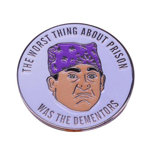 Free Prison Mike Dementors Michael Scott The Office Enamel Pin Just Pay Shipping