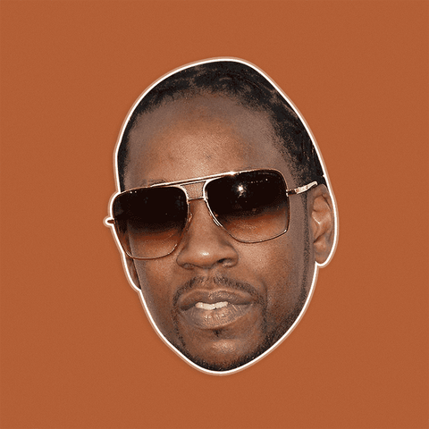 Sad 2 Chainz Mask - Perfect for Halloween, Costume Party Mask, Masquerades, Parties, Festivals, Concerts - Jumbo Size Waterproof Laminated Mask