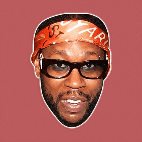 Serious 2 Chainz Mask - Perfect for Halloween, Costume Party Mask, Masquerades, Parties, Festivals, Concerts - Jumbo Size Waterproof Laminated Mask