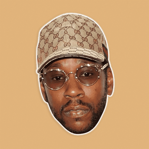 Surprised 2 Chainz Mask - Perfect for Halloween, Costume Party Mask, Masquerades, Parties, Festivals, Concerts - Jumbo Size Waterproof Laminated Mask