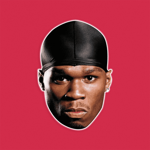 Gangsta 50 Cent Mask - Perfect for Halloween, Costume Party Mask, Masquerades, Parties, Festivals, Concerts - Jumbo Size Waterproof Laminated Mask