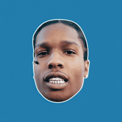 Curious ASAP Rocky Mask - Perfect for Halloween, Costume Party Mask, Masquerades, Parties, Festivals, Concerts - Jumbo Size Waterproof Laminated Mask