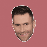 Happy Adam Levine Mask - Perfect for Halloween, Costume Party Mask, Masquerades, Parties, Festivals, Concerts - Jumbo Size Waterproof Laminated Mask