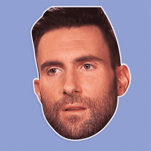 Silly Adam Levine Mask - Perfect for Halloween, Costume Party Mask, Masquerades, Parties, Festivals, Concerts - Jumbo Size Waterproof Laminated Mask