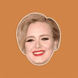 Happy Adele Mask - Perfect for Halloween, Costume Party Mask, Masquerades, Parties, Festivals, Concerts - Jumbo Size Waterproof Laminated Mask