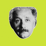 Serious Albert Einstein Mask - Perfect for Halloween, Costume Party Mask, Masquerades, Parties, Festivals, Concerts - Jumbo Size Waterproof Laminated Mask
