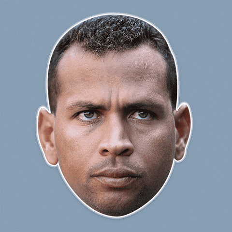 Bored Alex Rodriguez Mask - Perfect for Halloween, Costume Party Mask, Masquerades, Parties, Festivals, Concerts - Jumbo Size Waterproof Laminated Mask
