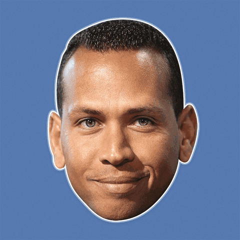 Cool Alex Rodriguez Mask - Perfect for Halloween, Costume Party Mask, Masquerades, Parties, Festivals, Concerts - Jumbo Size Waterproof Laminated Mask