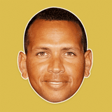 Neutral Alex Rodriguez Mask - Perfect for Halloween, Costume Party Mask, Masquerades, Parties, Festivals, Concerts - Jumbo Size Waterproof Laminated Mask