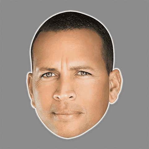 Serious Alex Rodriguez Mask - Perfect for Halloween, Costume Party Mask, Masquerades, Parties, Festivals, Concerts - Jumbo Size Waterproof Laminated Mask