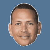 Sexy Alex Rodriguez Mask - Perfect for Halloween, Costume Party Mask, Masquerades, Parties, Festivals, Concerts - Jumbo Size Waterproof Laminated Mask