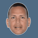 Surprised Alex Rodriguez Mask - Perfect for Halloween, Costume Party Mask, Masquerades, Parties, Festivals, Concerts - Jumbo Size Waterproof Laminated Mask