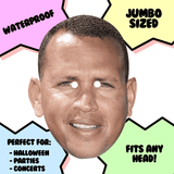 Disgusted Alex Rodriguez Mask - Perfect for Halloween, Costume Party Mask, Masquerades, Parties, Festivals, Concerts - Jumbo Size Waterproof Laminated Mask