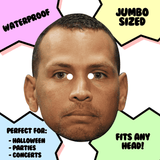 Sad Alex Rodriguez Mask - Perfect for Halloween, Costume Party Mask, Masquerades, Parties, Festivals, Concerts - Jumbo Size Waterproof Laminated Mask