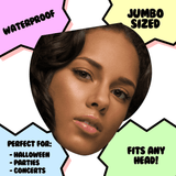 Sad Alicia Keys Mask - Perfect for Halloween, Costume Party Mask, Masquerades, Parties, Festivals, Concerts - Jumbo Size Waterproof Laminated Mask