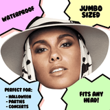 Surprised Alicia Keys Mask - Perfect for Halloween, Costume Party Mask, Masquerades, Parties, Festivals, Concerts - Jumbo Size Waterproof Laminated Mask