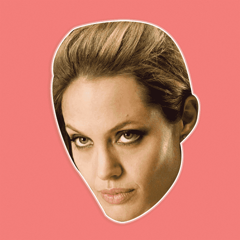 Angry Angelina Jolie Mask - Perfect for Halloween, Costume Party Mask, Masquerades, Parties, Festivals, Concerts - Jumbo Size Waterproof Laminated Mask