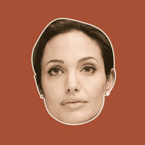 Bored Angelina Jolie Mask by RapMasks
