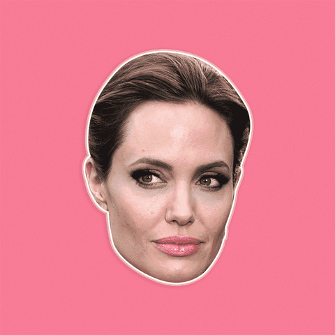 Confused Angelina Jolie Mask - Perfect for Halloween, Costume Party Mask, Masquerades, Parties, Festivals, Concerts - Jumbo Size Waterproof Laminated Mask