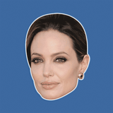 Serious Angelina Jolie Mask - Perfect for Halloween, Costume Party Mask, Masquerades, Parties, Festivals, Concerts - Jumbo Size Waterproof Laminated Mask