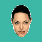 Silly Angelina Jolie Mask - Perfect for Halloween, Costume Party Mask, Masquerades, Parties, Festivals, Concerts - Jumbo Size Waterproof Laminated Mask
