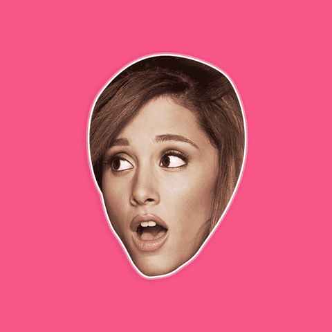 Surprised Ariana Grande Mask by RapMasks