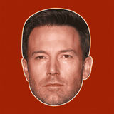 Angry Ben Affleck Mask - Perfect for Halloween, Costume Party Mask, Masquerades, Parties, Festivals, Concerts - Jumbo Size Waterproof Laminated Mask