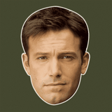Disgusted Ben Affleck Mask - Perfect for Halloween, Costume Party Mask, Masquerades, Parties, Festivals, Concerts - Jumbo Size Waterproof Laminated Mask
