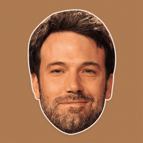 Happy Ben Affleck Mask - Perfect for Halloween, Costume Party Mask, Masquerades, Parties, Festivals, Concerts - Jumbo Size Waterproof Laminated Mask
