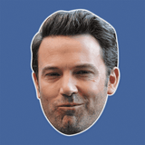 Silly Ben Affleck Mask - Perfect for Halloween, Costume Party Mask, Masquerades, Parties, Festivals, Concerts - Jumbo Size Waterproof Laminated Mask